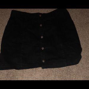 Black jean high rise skirt, large